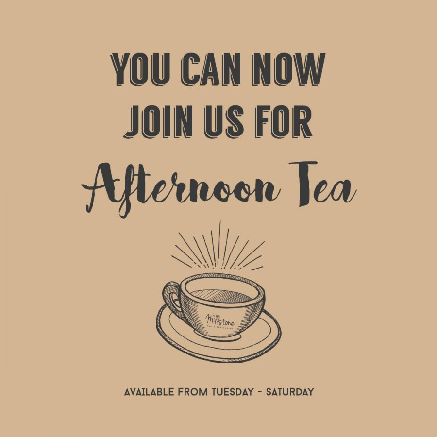 You can now join us for Afternoon Tea!